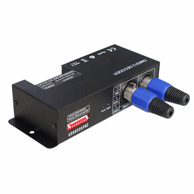 4CH DC12-24V RGBW DMX 512 Decoder LED Controller, RGB LED DMX512 Decoder 4 Kanal x 8A für LED Streifen Licht