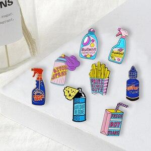 Image 1 - Забавные чистящие штифты, фигня, значки с героями мультфильмов, мешочек для брошек, аксессуары, эмалированные булавки, забавные ювелирные изделия, подарки для друзей