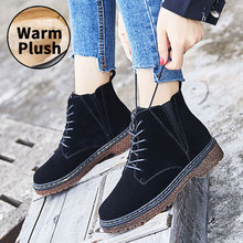 NKAVQI Women Boots Winter Warm Plush Snow Martin Boots Woman Casual Suede Botas Shoes Female Ankle Boot Motorcycle mujer zapatos nkavqi winter warm platform shoes woman snow boots plush female casual sneakers suede leather female ankle boots warm shoes men