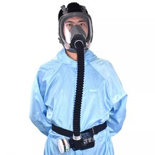 Electric Constant Flow Supplied Air Face Gas Mask Spray Painting Tool industrial chemical use Respirator System