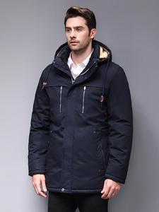 Blackleopardwolf 2019 Зимняя мужская куртка модная мужская парка тип аляска съемная верхняя одежда с удобными манжетами BL-6605