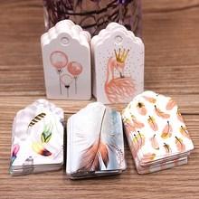 Бирка в форме гребешка 5x3 см 100 бирка белого цвета свадебные конфеты подарочные бирки Перья Узор Украшение Подвеска для вечерние