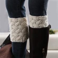 1 пара Гетр Вязание ручной работы зимние теплые гетры, носки с рождественским рисунком, прямая продажа ботинки со шнуровкой низкий толстый к...