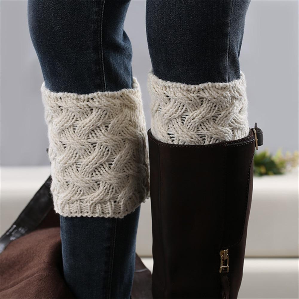 1 пара Гетр Вязание ручной работы зимние теплые гетры, носки с рождественским рисунком, прямая продажа ботинки со шнуровкой низкий толстый каблук бамбуковые плетеные ботинки со стельками манжеты