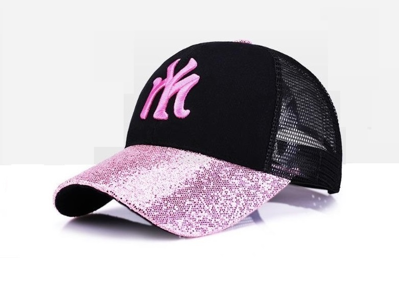 Breathable Summer Sports Outdoors Adjustable Mesh Baseball Cap For Women Men NY Embroidery Hiphop Punk Hat Bone Dadcap