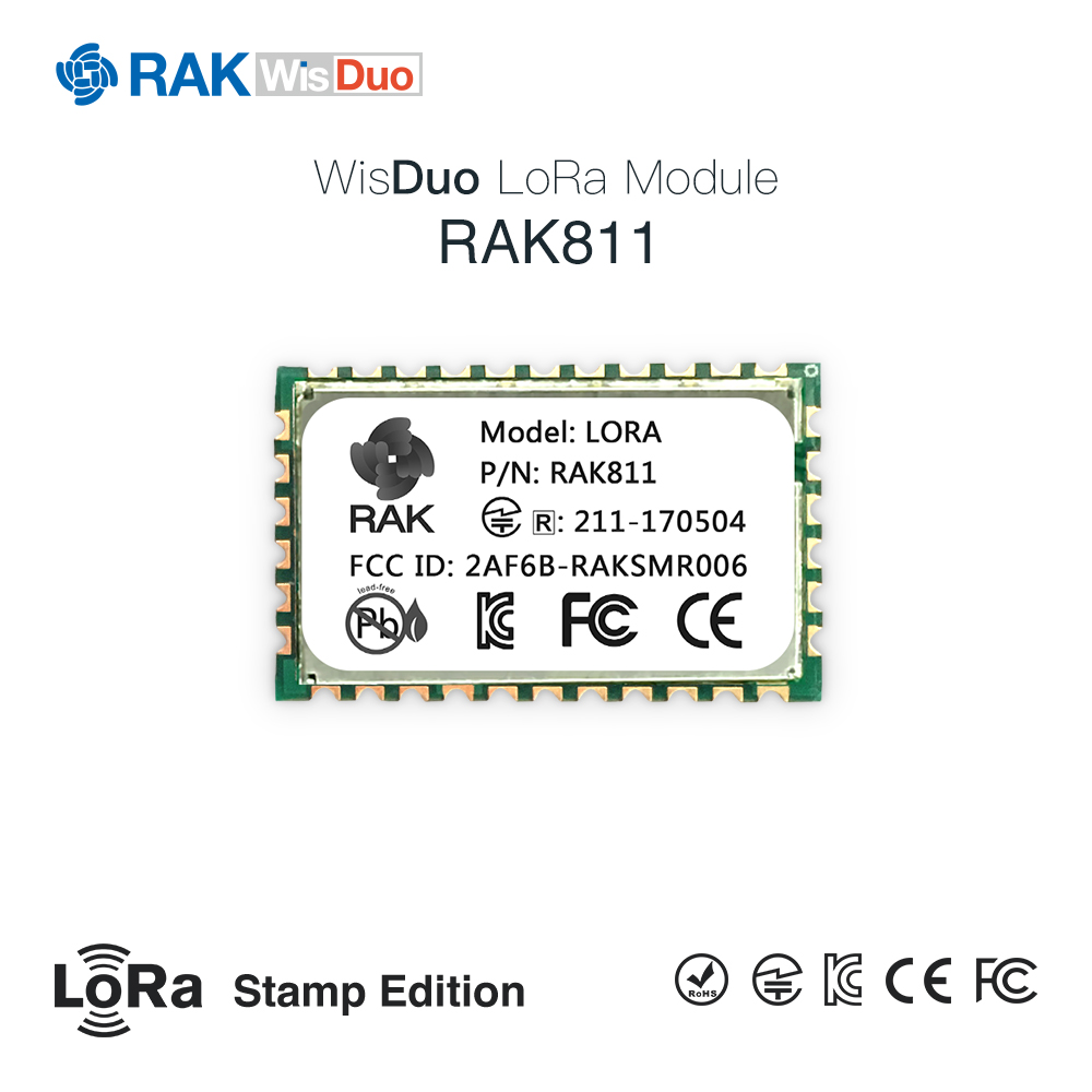RAK811 LoRa Module, SX1276 Wireless Communication LoRa Spread Spectrum 3000 Meters, Support LoRaWAN Protocol