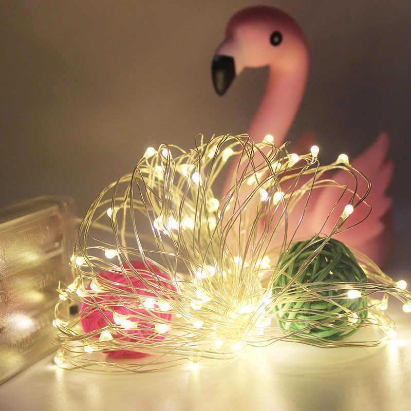 Led String Lights 2M 20 diod Led CR2032 na baterie drut miedziany Fairy światła na boże narodzenie girlanda dekoracyjna