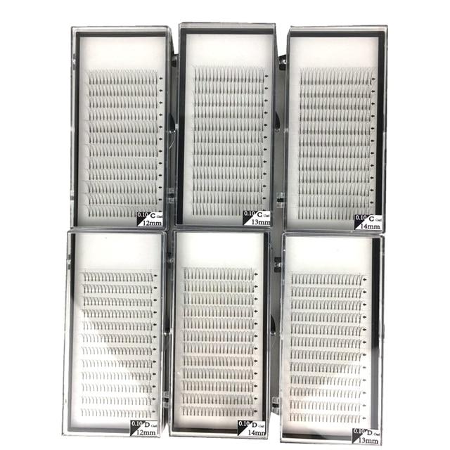 60 Trays/lot 3D 4D 5D Langen Stiel Vorgefertigten Volumen Fans Nerz Volume Lash Erweiterung für Profis Pre Aufgefächert große Kapazität 5 Dutzend