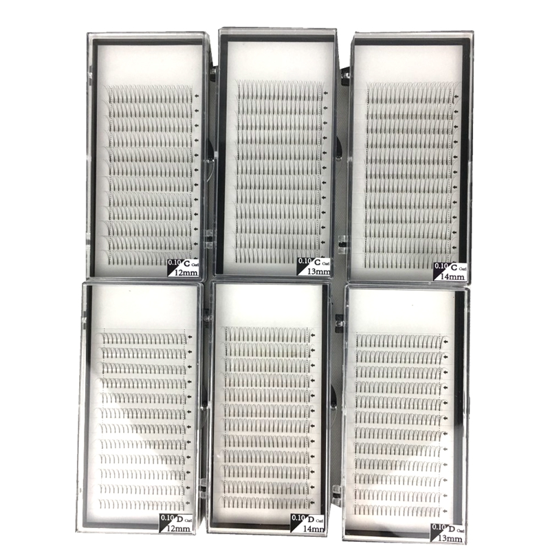 Image 2 - 60 Trays/lot 3D 4D 5D Long Stem Premade Volume Fans Mink Volume Lash Extension for Professionals Pre Fanned Big Capacity 5 Dozen-in False Eyelashes from Beauty & Health