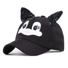2019 Cute Snapback Kids Baseball Cap With Ears Boys Girls Hat 6 COLORS