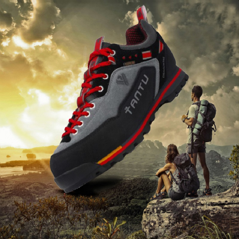 Loecktty 2019 Waterproof Hiking Shoes Mountain Climbing Shoes Outdoor Hiking Boots Trekking Sport Sneakers Men Hunting Trekking