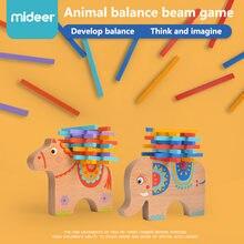 Midee деревянная укладка баланс слон и лошадь развивающие математические