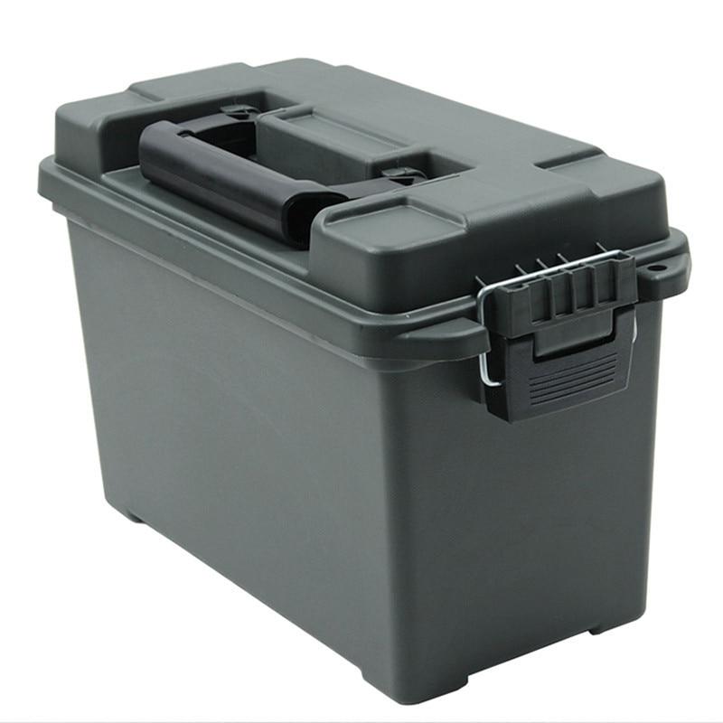 Portable Plastic Ammo Box Military Style Storage Bullet Box Lightweight Moisture-proof Dry Storage Case  Tool Box 14.8L