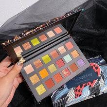 18 цветов матовые мерцающие тени для век Палитра водостойкие