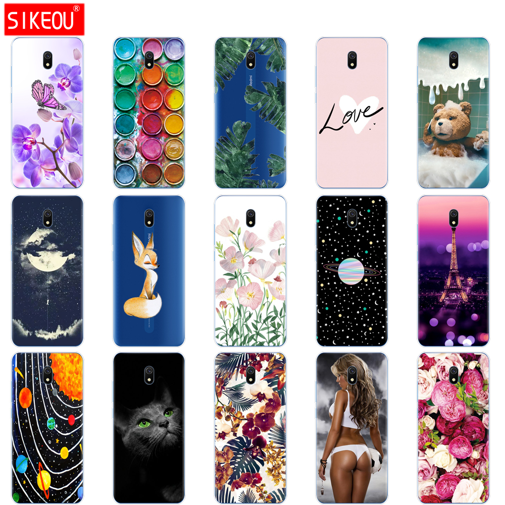 silicon case for xiaomi redmi 8a cases full protection soft tpu back cover on redmi 8a bumper hongmi 8a phone shell bag coque