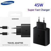 Cavo adattatore originale Samsung Fast Charger 45W Fast Type C per Samsung GALAXY Note 10 20 S20 Plus S20 Ultra S21 A71 A80 A91