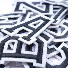 A-Z 1 шт. Чистый Белый Английский алфавит буквы Смешанные Вышитые железные нашивки для нашивка для одежды паста для одежды сумка Брюки Шитье