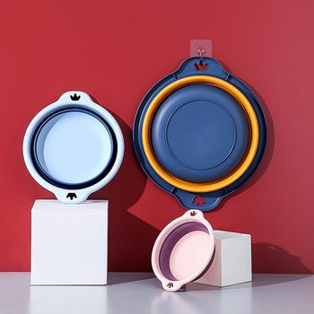 Nowy 2021 plastikowe składane umywalki przenośne mycie umywalki składane pranie łazienka kuchnia podróży składane słodkie dziecko przenośne umywalki tanie i dobre opinie olevo CN (pochodzenie) Z tworzywa sztucznego Miski