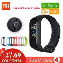 Xiaomi Miband Xiaomi Mi Band 4 스마트 팔찌 Miband 4 팔찌 심박수 피트니스 135mAh 컬러 블루투스 5.0
