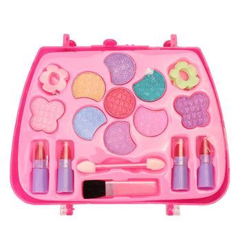 Pudełko do makijażu dla dziewczynek zestaw występy na imprezę opatrunek zestaw do makijażu księżniczka podróżująca zabawka kosmetyczna dla dzieci dziewczyna zestawy symulacyjne TSLM1 tanie i dobre opinie ELECOOL 100g Cosmetics Set 1 set YQ=88612 15*6 5*16cm plastic Dropshipping