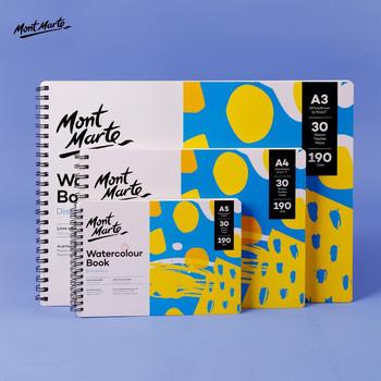 Montmartre a4 bawełna pulpa akwarela książka 190g luźny liść ręcznie malowany papier akwarelowy 30 stron 8k akwarela szkicownik tanie i dobre opinie A3 A4 A5