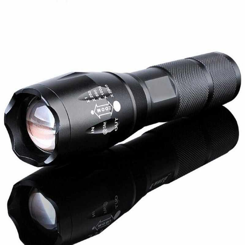 LED Rechargeable Cree XML T6 Linterna LED Torch 4000 Lumens 18650 Baterai Outdoor Camping Senter Terang