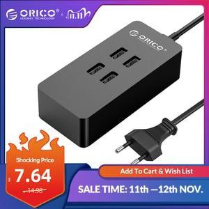 Image 1 - オリコ 4 ポート USB 充電器ミニスマート充電ドックステーション 5V2 。 4A * 4 最大出力 20 ワットのデスクトップの充電器電話パッド充電