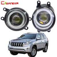 Cawanerl For Toyota Land Cruiser Prado J150 2009-2013 Car LED Fog Light Angel Eye Daytime Running Light DRL H11 30W 12V 2 Pieces
