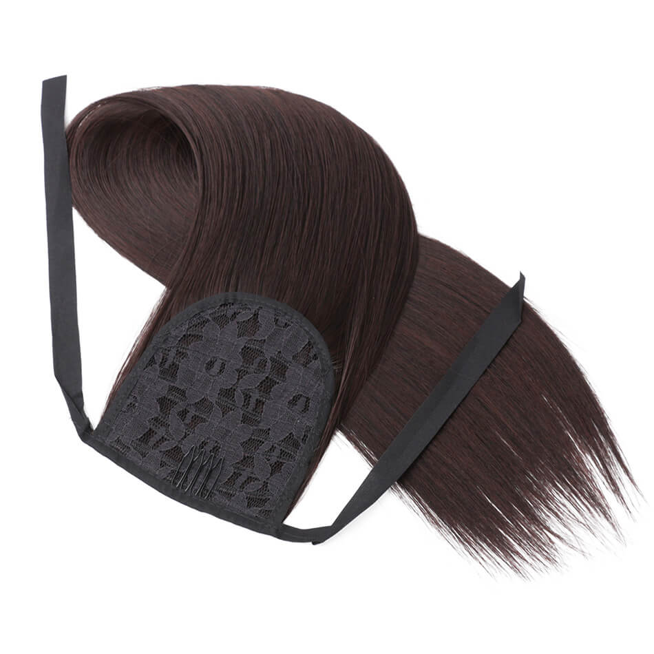 65cm Synthetic Hair Ponytail Hair Extension Pure Color Hairpieces For Women