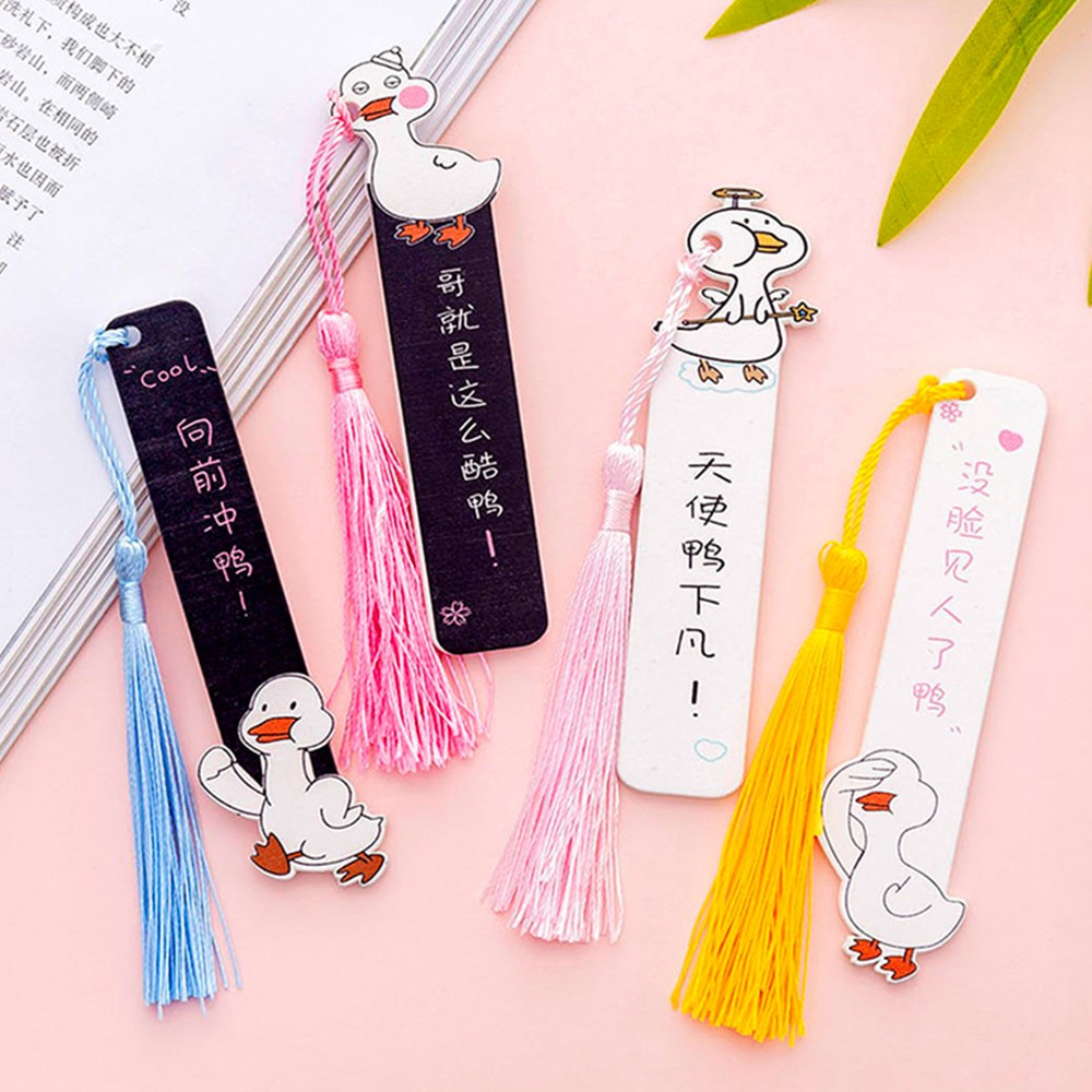 1 Pcs Cute Kawaii Duck Wooden Ruler School Creative Bookmark Stationery Gift Office Measuring Supplies Escolar Papelaria