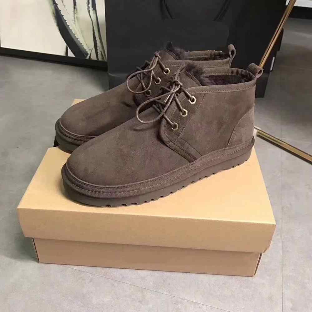 2019 botas de hombre de alta calidad de China, piel de oveja real, 100% lana natural, botas de nieve con cordones, entrega gratuita, 6 colores