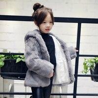 2019 new Winter fur coat Quality Children's Rabbit fur coat Parent Child Girl Rabbit Fur jacket Kids real fur coat women J01