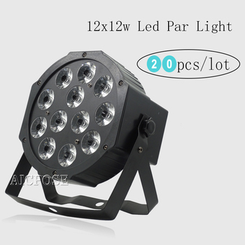 20units  12*12w led lamp beads 12x12W led Par lights RGBW 4in1 flat par led dmx512 disco lights professional stage dj equipment прожектор led par 64 involight led par189al