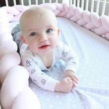 3 Strands Twist Bumper Bed Braid Knot หมอน Bumpe Anti Bump Baby Crib ขอบเด็กหัว Protector Cushion เตียง(China)