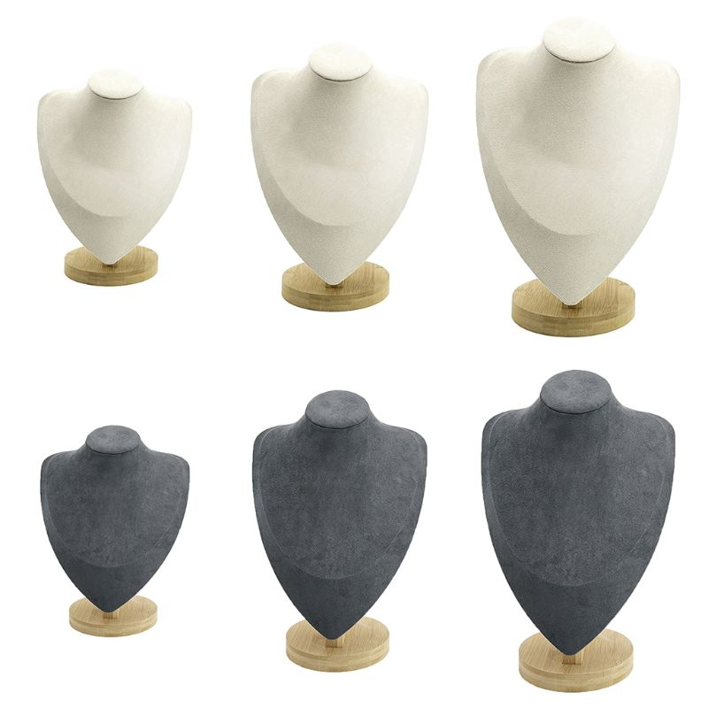 Mannequin Necklace Display Stand Holder Showcase for Jewellry Window Display thumbnail