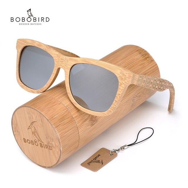 BOBO BIRD ماركة ريترو الخيزران النظارات الشمسية النساء والرجال مع عدسات قطبية الفضة نظارات كما أفضل الرجال الهدايا الفاخرة C DG06a