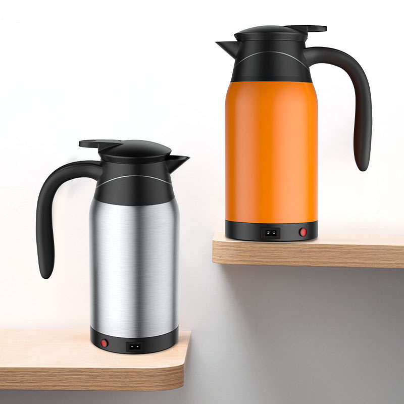 180W 24V Electric Heating Cup Kettle Stainless Steel Water Heater Bottle for Tea Coffee Drinking Travel Car Truck
