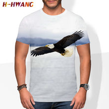 Eagle Streetwear Falcon Clothing Animal Eagle 3D Print T-shirt Summer Casual Men Hawk t shirts Women Short sleeve tops 2021
