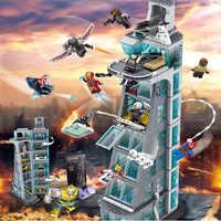 Upgraded Version SuperHeroes Ironman Compatible Legoinglys Marvel Avenger Tower Fit  Avengers Gift Building Block Bricks Toys