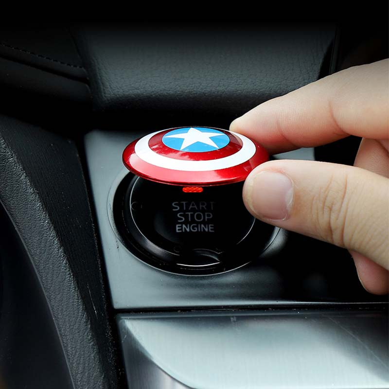 Автомобильная кнопка пуска с одним нажатием декоративный круг для Kia Hyundai Genesis G70 G80 G90 Equus Creta KONA Enduro Intrado NEXO