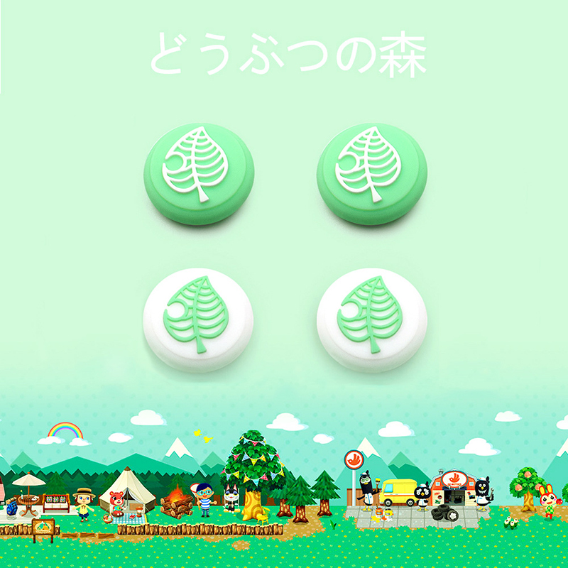 Tree Leaf Joystick Cap Cover For Nintendo Switch NS Lite Animal Crossing Games Skin Joy-Con Controller Gamepad Case Accessories