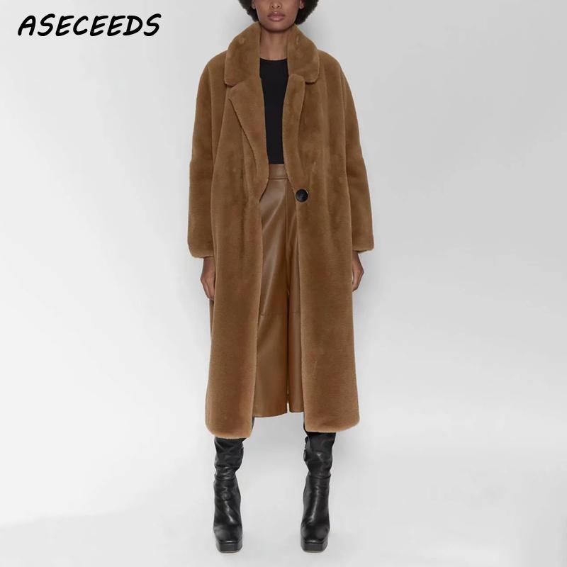 2019 Winter Coat Women Rabbit Fur Coat Casual Plus Size Faux Rabbit Long Coats Streetwear Kawaii Fuzzy Teddy Coat Korean Vintage