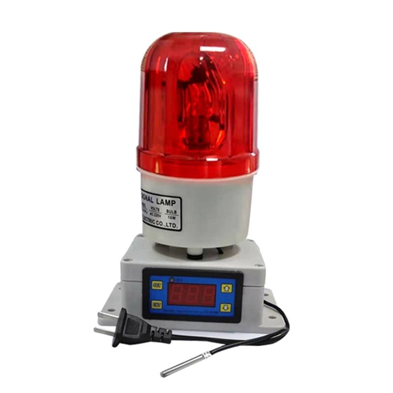 MOOL Temperature Alarm Thermostat Machine Room Farm Oven Temperature Alarm High and Low Temperature Alarm 110-220V US Plug