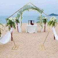 Oferta https://ae01.alicdn.com/kf/Hc2eb898a44e54554913744816a2f1719m/1 juego lote círculo boda centro de mesa arco decoración bola flor globo hierro arco soporte.jpg