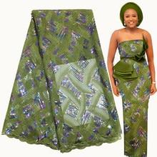 Bestway tela de encaje Africana 5 yardas 2021 alta calidad bordado de lentejuelas Asoebi nigeriano de Material de costura de red francés encaje