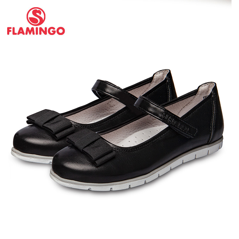 School shoes Flamingo 92T-XY-1460 shoes for girls leather insole shoes for children 31-36 # flamingo new children shoes spring
