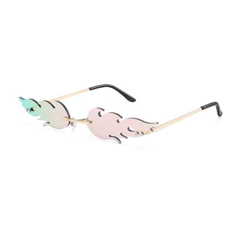 ผู้หญิงแมวแว่นตากันแดดออกแบบแบรนด์ Retro โลหะเปลวไฟสไตล์ผู้หญิงแว่นตา Sun แว่นตา Shades UV400 แว่นตา