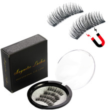 Magnetic eyelashes with 3 magnets handmade 3D magnetic natural eyelash extension gift box