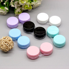 Candy Color Contact Lenses Box 1pc Contact Lenses Tweezers Wholesale Contact Lens Case for Travel Kit Holder Container