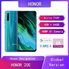 Global Version Huawei Mobile Phone Honor 20e 4G+64G Kirin 710F Octa Core 6.15'' Screen Honor 20e Cell Phone Dual Sim AI Camera